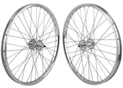 SE RACING 24 inch WHEEL SET Silver
