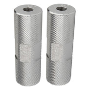 ALLOY THREAD ON FREESTYLE BMX PEGS Silver/24t - 26t