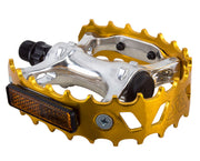 SE BIKES BEAR TRAP PEDALS Gold - 9/16