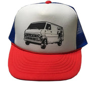 Albe's High Mileage Trucker Hat White - Blue - Red