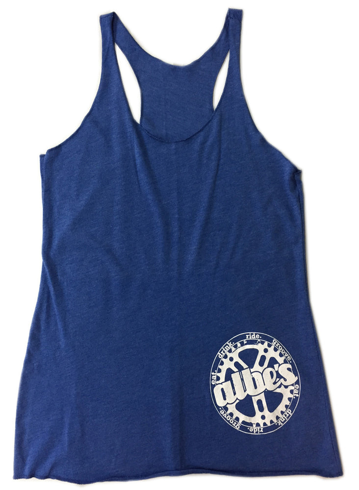 Albe's Chick Tank Top in Blue at Albe's BMX
