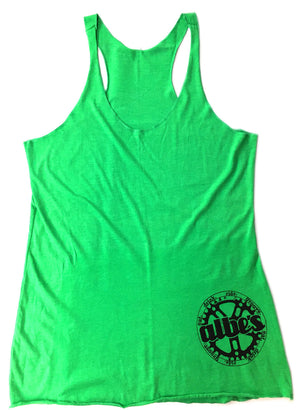 Albe's Chick Tank Top in Green at Albe's BMX