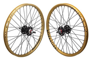 Alienation Mischief / Malice 20 inch Wheelset in Gold at Albe's BMX Online