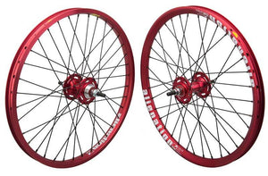 Alienation Mischief / Malice 20 inch Wheelset in red at Albe's BMX Online