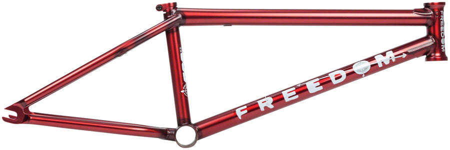 BSD Freedom Frame in Trans Red at Albe's BMX Online