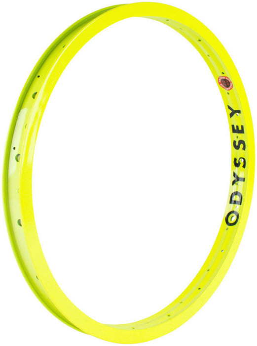 "Odyssey Hazard Lite 20"" Rim in Flo Yellow at Albe's BMX Online"