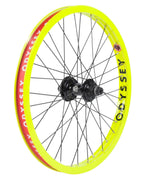 Odyssey Hazard Lite Antigram V2 Cassette Wheel Fluorescent Yellow