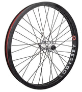 Odyssey Hazard Lite Vandero Pro Front Wheel Black w/ Polished Hub