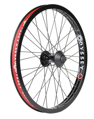 Odyssey Hazard Lite Vandero Pro Front Wheel in black at Albe's BMX Online