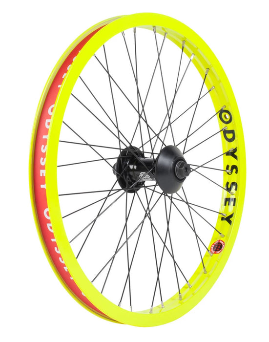 Odyssey Hazard Lite Vandero Pro Front Wheel in Flo Yellow at Albe's BMX Online