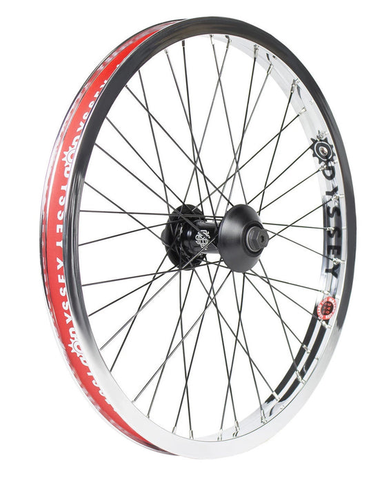 Odyssey Hazard Lite Vandero Pro Front Wheel in chrome at Albe's BMX Online
