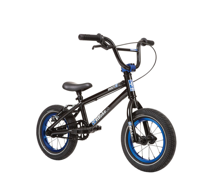 "Fit Misfit 12"" Bike 2020 in black and blue at Albe's BMX Online"
