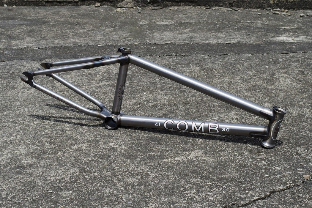 Mutiny Comb Frame in raw at Albe's BMX Online