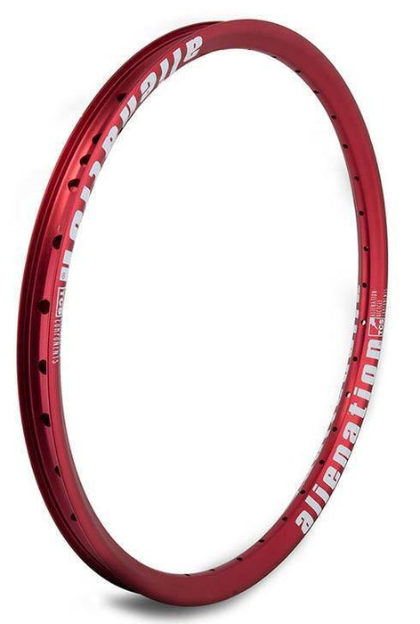 Alienation Mischief Rim in Red color at Albe's BMX Online