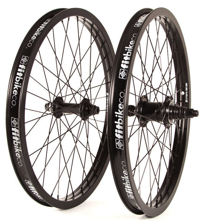 Fit Freecoaster 22 inch Wheelset in black at Albe's BMX Online