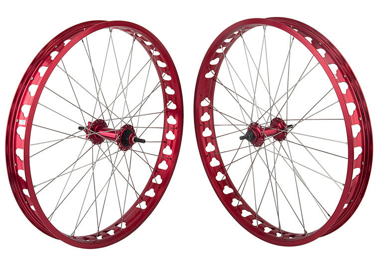 "SE Bikes Fat Ripper 26"" Wheelset  in red at Albe's BMX Online"