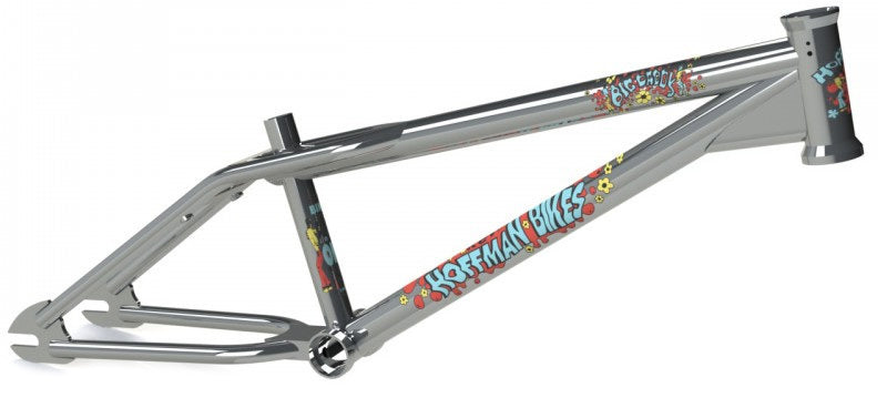 Hoffman Bikes Big Daddy Frame in chrome with Red decals at Albe's BMX Online