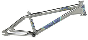 Hoffman Bikes Big Daddy Frame in chrome with Blue decals at Albe's BMX Online