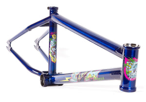 S&M Hucker Frame in Trans Blue at Albe's BMX Online
