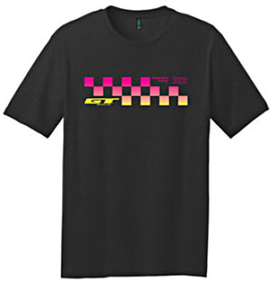 GT Bikes Checkered Fade T-Shirt at Albe's BMX Online