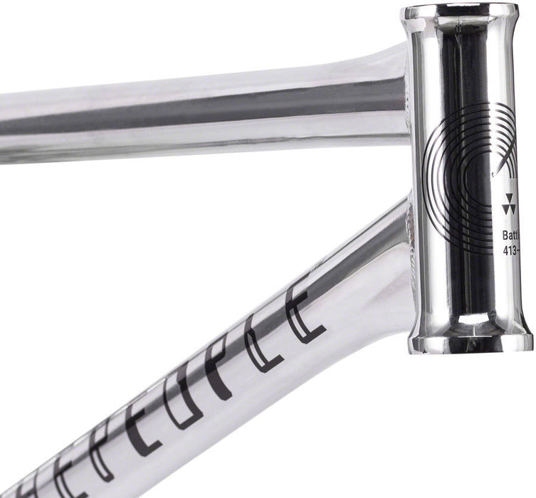 WeThePeople Battleship Frame in chrome at Albe's BMX Online