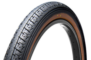 "GT Bikes LP-5 Heritage 20"" Tire in black with skin wall at Albe's BMX Online"