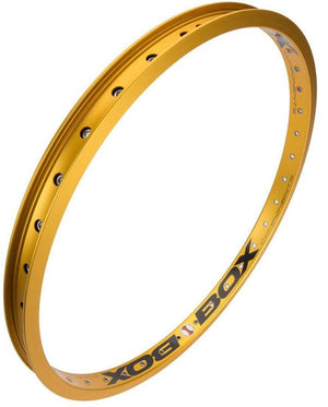 Box Focus rear rim in Gold at Albe's BMX