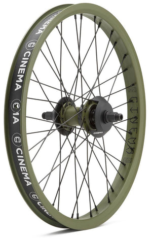 Cinema DAK C38 Freecoaster Wheel in army green at Albe's BMX