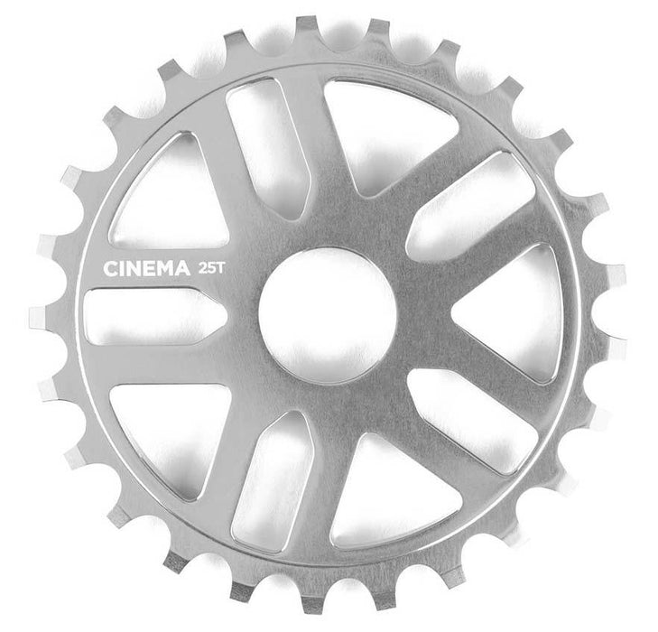 Cinema Rewind Sprocket in silver at Albe's BMX Bike Shop