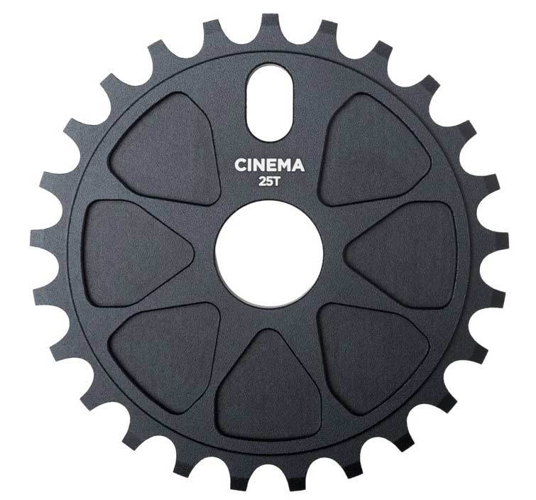 Cinema Rock Sprocket in Black at Albe's BMX Bike Shop