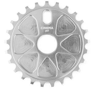 Cinema Rock Sprocket in Silver at Albe's BMX Bike Shop