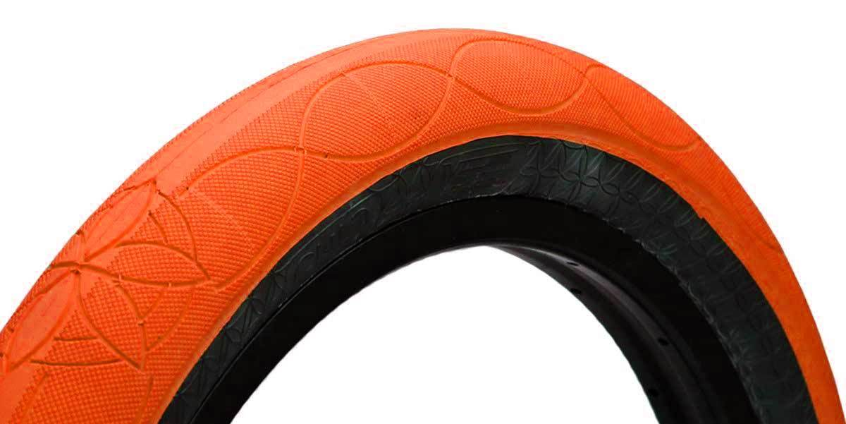 Cult AK tire by Alex Kennedy in Orange at Albe's BMX
