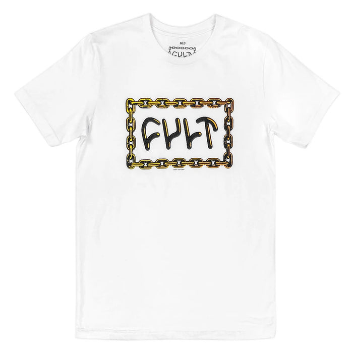 Cult For Life T-Shirt in white at Albe's BMX Online