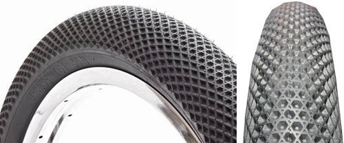 Cult BMX Tires in Black featuring the ever so loved Vans shoes sole pattern