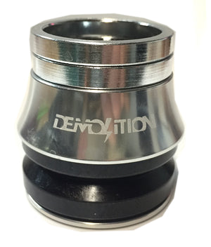 Demolition V2 Integrated Headset in Silver at Albe's BMX Bike Shop