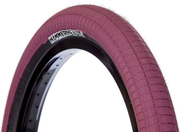 Demolition Hammerhead BMX Trail Tire in Maroon at Albe's BMX Bike Shop Online