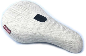 Fiend Morrow V3 Pivotal BMX Seat in Harringbone Cream at Albe's BMX