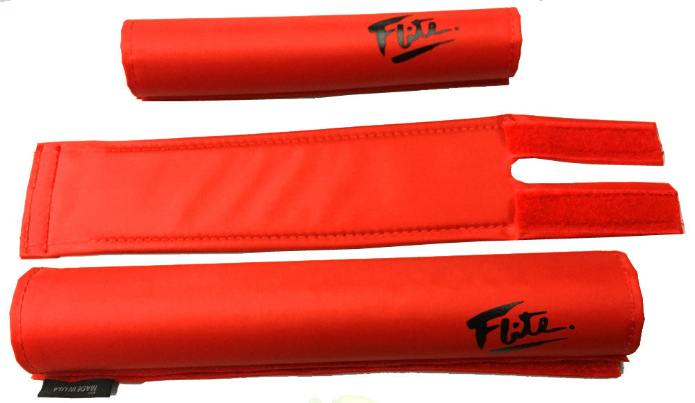 Flite Padset for BMX in Red at Albe's BMX Bike Shop