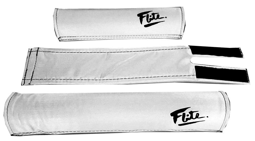 Flite Padset for BMX in White at Albe's BMX Bike Shop