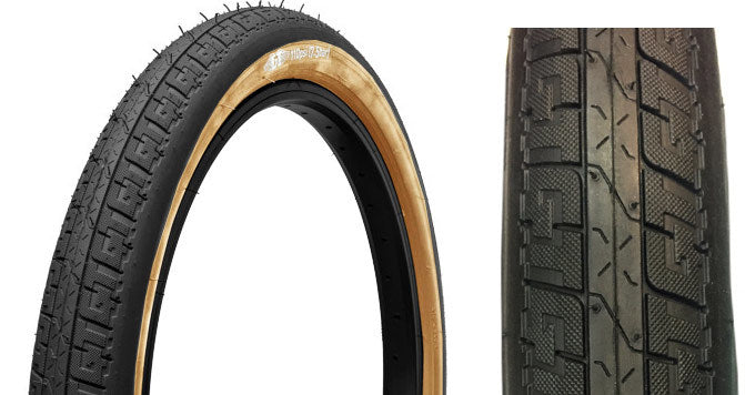 GT LP-V Freestyle BMX Tire in black with tan wall at Albe's BMX Bike Shop Online