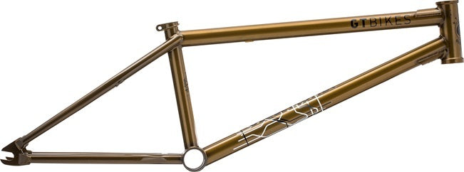 GT Bikes Globetrotter BK BMX Frame in yellow at Albe's BMX Bike Shop