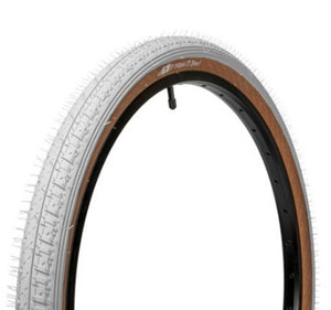 "GT Bikes LP-5 Heritage 20"" Tire in white at Albe's BMX Online"