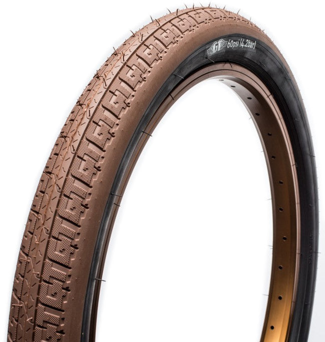 GT LP-V Freestyle BMX Tire in Brown at Albe's BMX Bike Shop Online