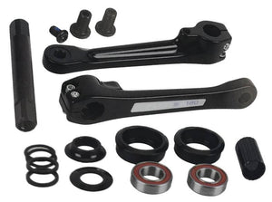 Haro Fusion Alloy cranks at in Black at Albe's BMX Bike Shop Online