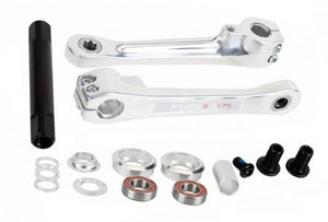 Haro Fusion Alloy cranks at in silver at Albe's BMX Bike Shop Online
