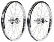 HARO LINEAGE CASSETTE WHEEL SET Chrome - 36 Spoke
