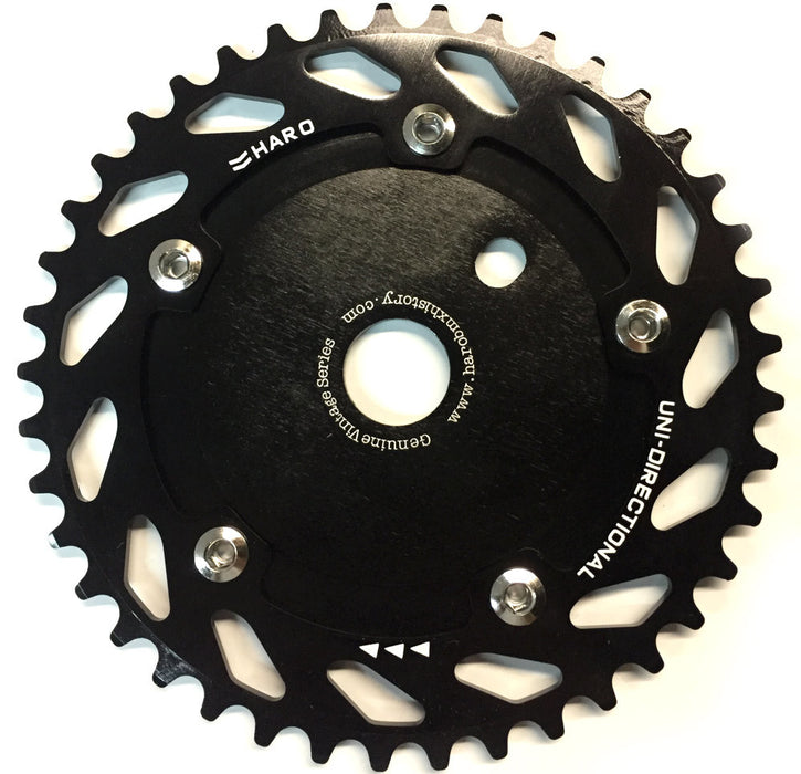 Haro Unidirectional Chain Ring Sprocket in black at Albe's BMX