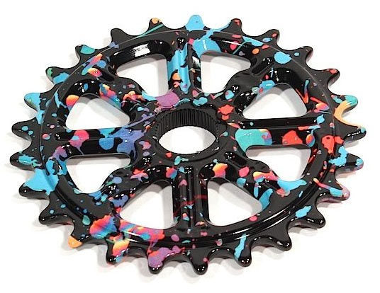 Madera Helm Sprocket in Party Paint colorway at Albe's BMX Bike Shop