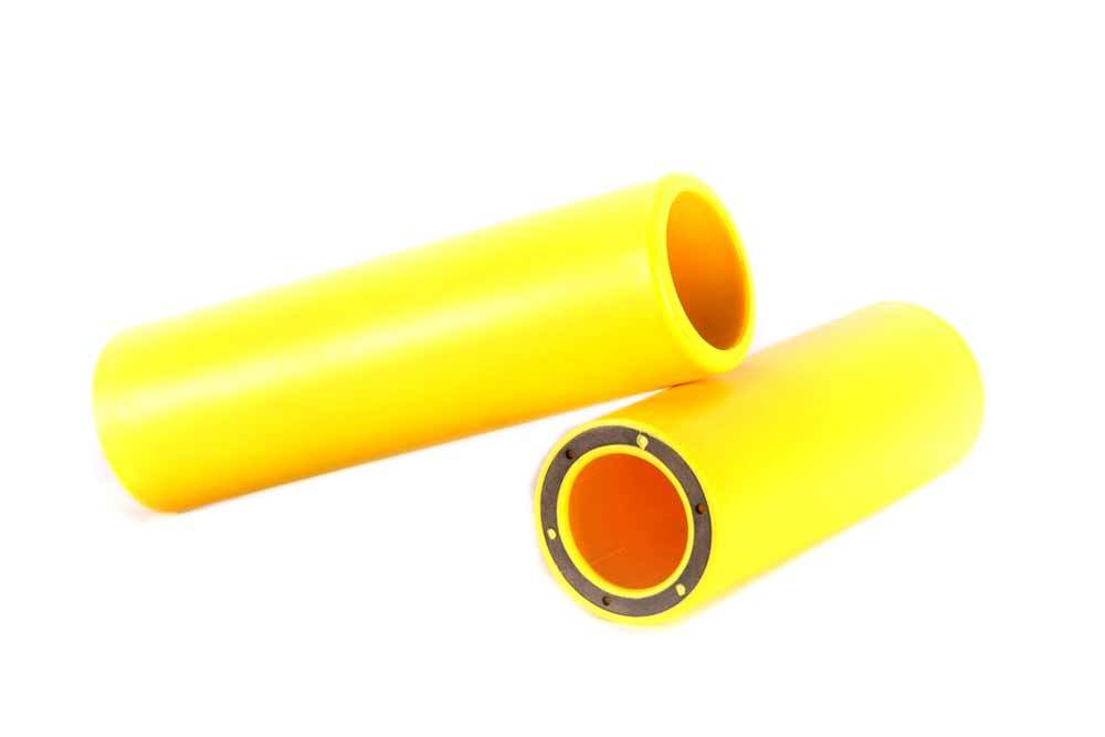Merritt GFE Peg Sleeve in Yellow at Albe's BMX Bike Shop