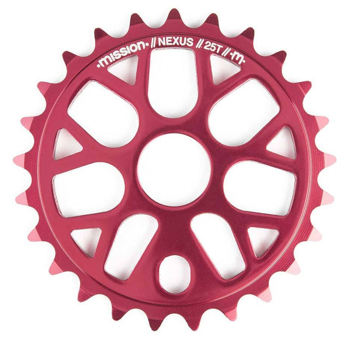 Mission Nexus Sprocket is Red at Albe's BMX